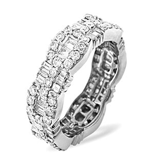 Eternity Ring Amelia 18K White Gold Diamond 2.55ct H/Si