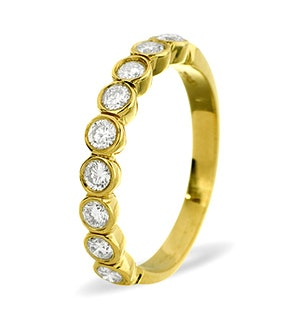 EMILY 18K Gold Diamond ETERNITY RING 0.50CT H/SI