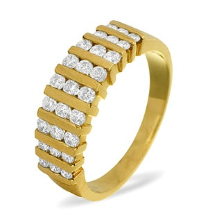 0.50ct H/si Diamond and 18K Gold Half Eternity -  JG29-72JUA
