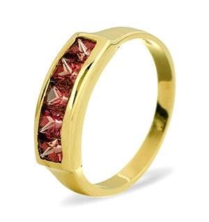 Rhodalite Garnet 0.60CT 9K Gold Ring
