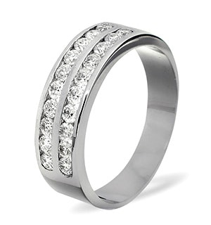 LUCY 18K White Gold Diamond ETERNITY RING 0.50CT H/SI