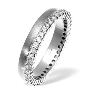 Emily High Set 18K White Gold Diamond Wedding Ring 1.20CT H/SI