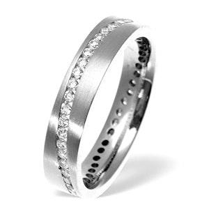 Lucy Swirl 18K White Gold Diamond Wedding Ring 0.55CT H/SI