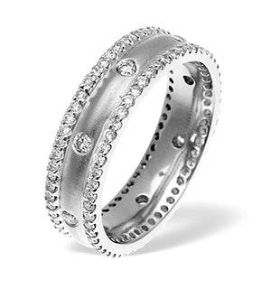 Chloe 2 row 18K White Gold Diamond Wedding Ring 1.30CT H/SI