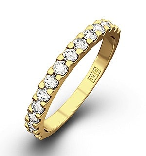 15 STONE CHLOE 18K Gold DIAMOND ETERNITY RING 0.50CT H/SI