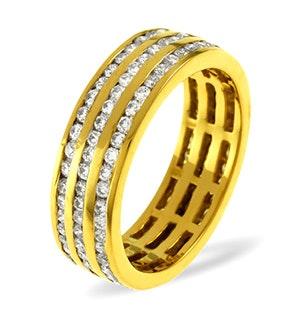 Eternity Ring Amy 18K Gold Diamond 1.50ct H/Si