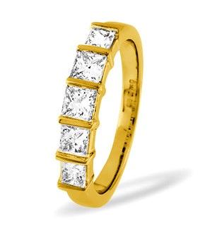 Lauren 18K Gold 5 Stone Diamond Eternity Ring 0.50CT H/SI