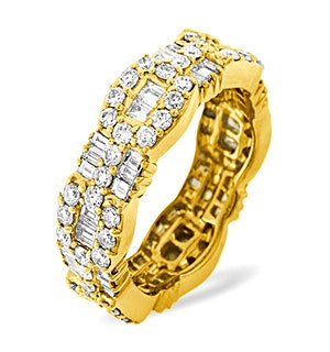 Eternity Ring Amelia 18K Gold Diamond 2.55ct H/Si