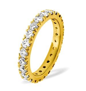 Eternity Ring Poppy 18K Gold Diamond 2.00ct H/Si