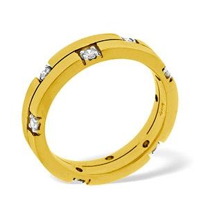 Ellie 18K Gold Diamond Wedding Ring 0.22CT H/SI