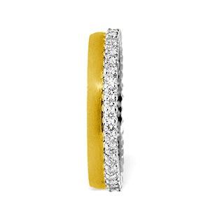 Emily High Set 18K Gold Diamond Wedding Ring 1.20CT H/SI