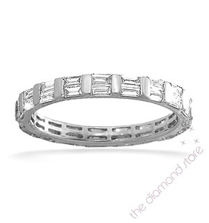 Eternity Ring Jessica 18K White Gold Diamond 1.00ct G/Vs