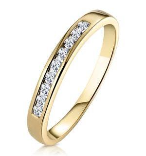 Rae Half Eternity Ring 0.20CT Diamond 9K Yellow Gold