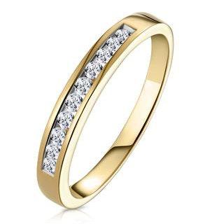 Rae Half Eternity Ring 0.25CT Diamond 9K Yellow Gold