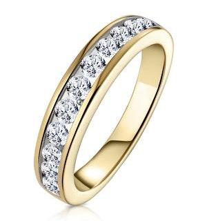 Rae Half Eternity Ring 0.75CT Diamond 9K Yellow Gold - Size P