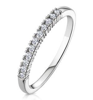 Half Eternity Ring 0.15CT Claw Set Diamond 9K White Gold