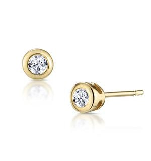 Stud Earrings 0.10CT Diamond 9K Yellow Gold