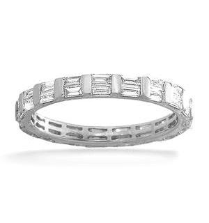 Eternity Ring Jessica 18K White Gold Diamond 1.00ct H/Si