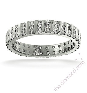 Mens 2ct H/Si Diamond Platinum Full Band Ring  IHG37-422JUS