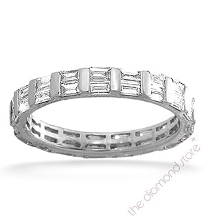 Mens 2ct G/Vs Diamond 18K White Gold Full Band Ring  IHG47-422XUY