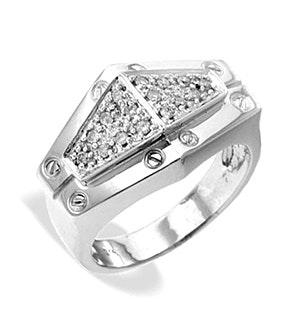 9K White Gold Diamond Ring (0.17ct)