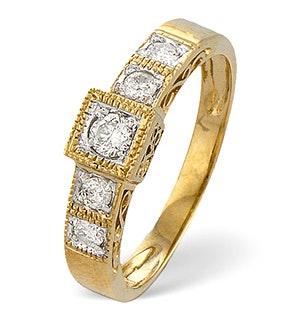 0.31ct Diamond and 9K Gold Ring - RTC-E3120