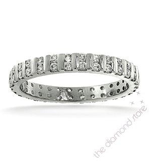 Eternity Ring Ellie 18K White Gold Diamond 0.50ct H/Si