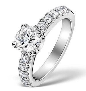 Sidestone Engagement Ring 1.50ct H/SI Diamonds in Platinum CFCO3