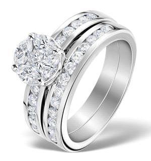 Matching Diamond Engagement and Wedding Ring 1.46ct Platinum