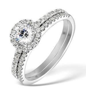 Matching Diamond Engagement and Wedding Ring 1ct VS1 18K Gold