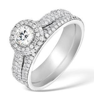 Matching Diamond Engagement - Wedding Ring 1.50ct SI1 18K Gold -DN3243