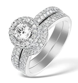 Matching Diamond Engagement - Wedding Ring 1.50ct SI2 18K Gold -DN3245