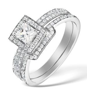 Matching Diamond Engagement and Wedding Ring 1ct SI2 18K Gold