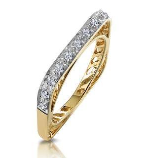 Unique Diamond Set Square Eternity Ring
