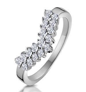 Diamond Wishbone Ring 0.45ct in 9K White Gold