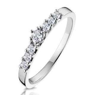 Sidestone Engagement Ring With 0.33ct of Diamonds set in 9K White Gold