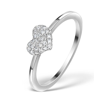 0.36ct Diamond and 9K White Gold Daisy Ring - E5814