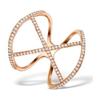 Vivara Collection 0.36ct Diamond and 9K Rose Gold Ring E5943