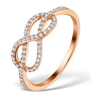 Vivara Collection 0.31ct Diamond 9K Rose Gold Ring E5958