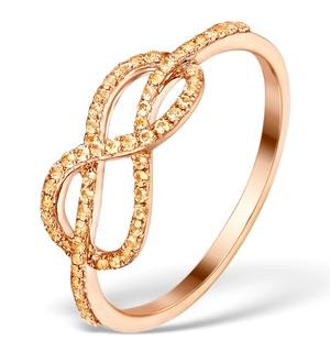 Vivara Collection 0.31ct Yellow Sapphire and 9K Rose Gold Ring E5959