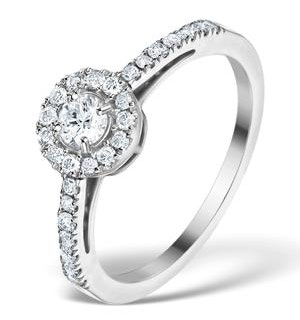 Halo Engagement Ring Martini Diamond 0.45CT Ring 9K White Gold E5973