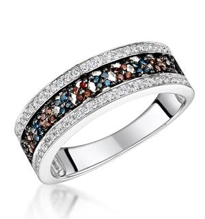 Stellato Collection Multi Colour Diamond Ring 0.23ct in 9K White Gold