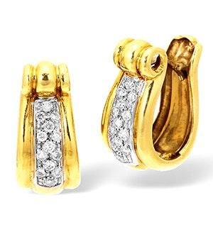 18KY Diamond Pave Set Earrings 0.50CT