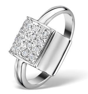 Diamond 0.13ct and 18K White Gold Ring - RTC-ET3309
