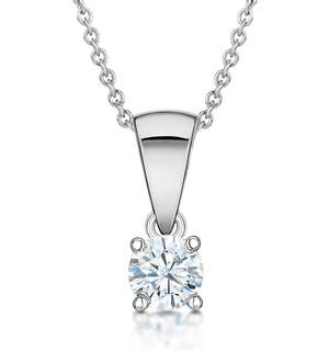 Chloe 18K White Gold Lab Diamond Solitaire Necklace 0.25CT G/SI