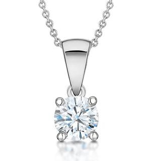 Diamond Solitaire Necklace 0.50ct Chloe Certified in Platinum G/SI1