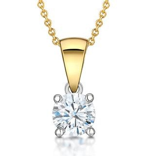 Chloe Certified 0.50ct Diamond Solitaire Necklace in 18K Gold G/SI1