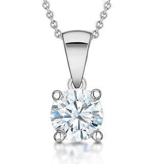 Diamond Solitaire Necklace 1.00ct Chloe Certified in Platinum E/VS1