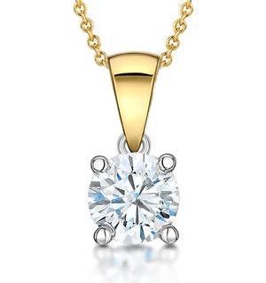 Chloe Certified 1.00ct Diamond Solitaire Necklace in 18K Gold E/VS1