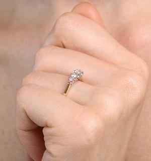 Grace 18K Gold 5 Stone Diamond Eternity Ring 0.33CT